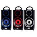 QFX Rechargable Boombox with Aux/FM/USB/SD Inputs