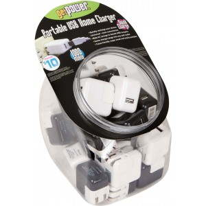 Get Power 30pc BK&WH AC Charger Bowl