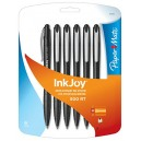 Paper Mate Ink Joy Black Ballpoint Pens 6pk