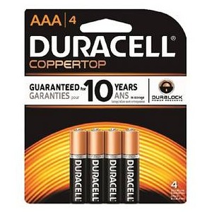 Duracell Coppertop AAA 4PK (Case: 18/54)