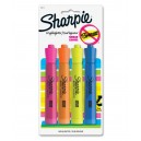 Sharpie Smear Guard Highlighter 4PK