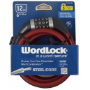 Word Lock 6' Word Combination Bike Lock